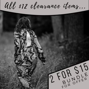 $12 Clearance Items 2 for $15 - Bundle for Offer